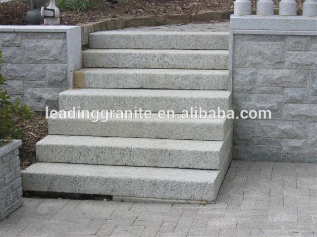 Exterior de piedra de granito de la escalera y piedra for Escaleras de granito precios