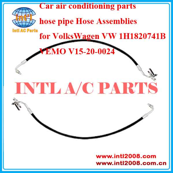 Car air conditioning parts hose pipe Hose Assemblies for VolksWagen VW 1H1820741B VEMO V15-20-0024 High Pressure Line