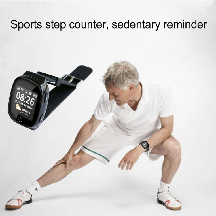 Hartslagmeter GPS Tracking Communicator Tracker Smart Horloge One-key SOS Medicatie Herinnering Sport Herinnering