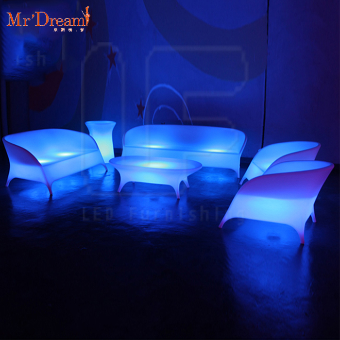 Luxury factory wholesale 16 colors changing white vip seating lighting led bar nightclub furniture sofas