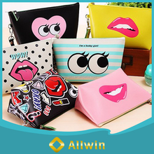 Hot sale cute waterproof pu cosmetic bag for travel