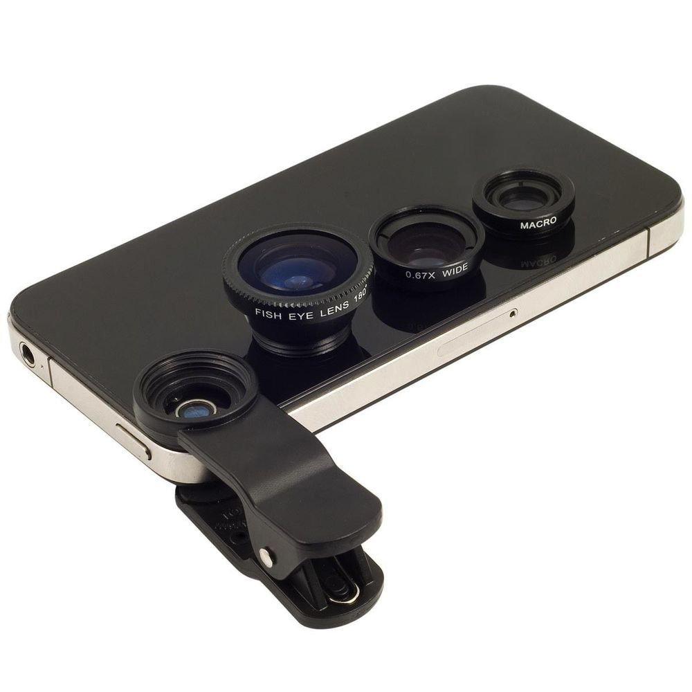 64a0bb7d560 Get Quotations · Fish Eye Fisheye 3 in 1 clips Lens Lente ojo de pez Olho de  Peixe Para
