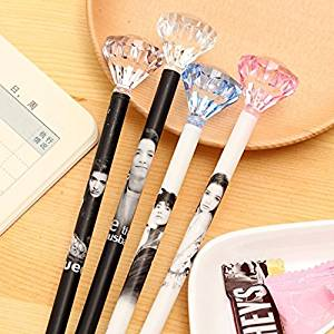 Katoot@ 12 pcs/lot Kawaii Diamond Gel pen stationery Novelty 0.5mm black roll pen Kids gift office school supplies zakka