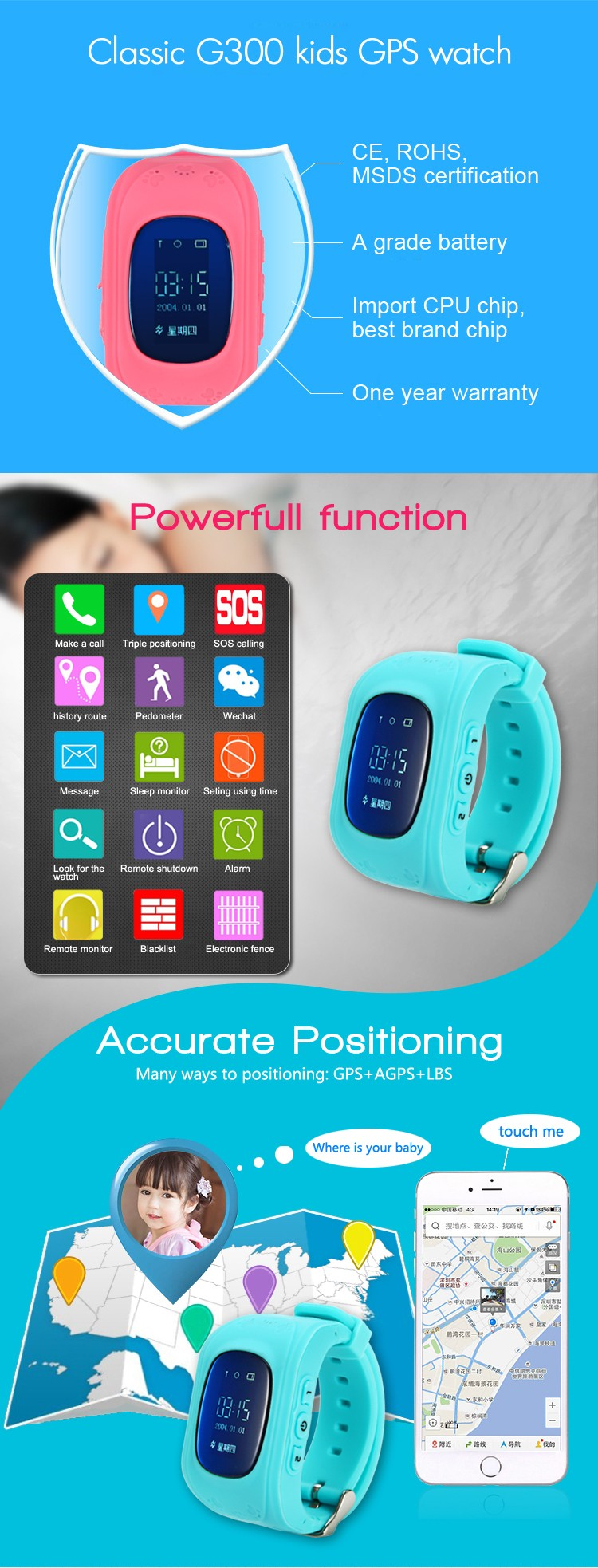 History Route Gps Tracking Smart Watch For Kids Made In China ...
