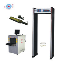 Malaysia Waterproof Portable Door frame Walkthrough Metal Detector, 6 Zones Archway Metal Detector Door