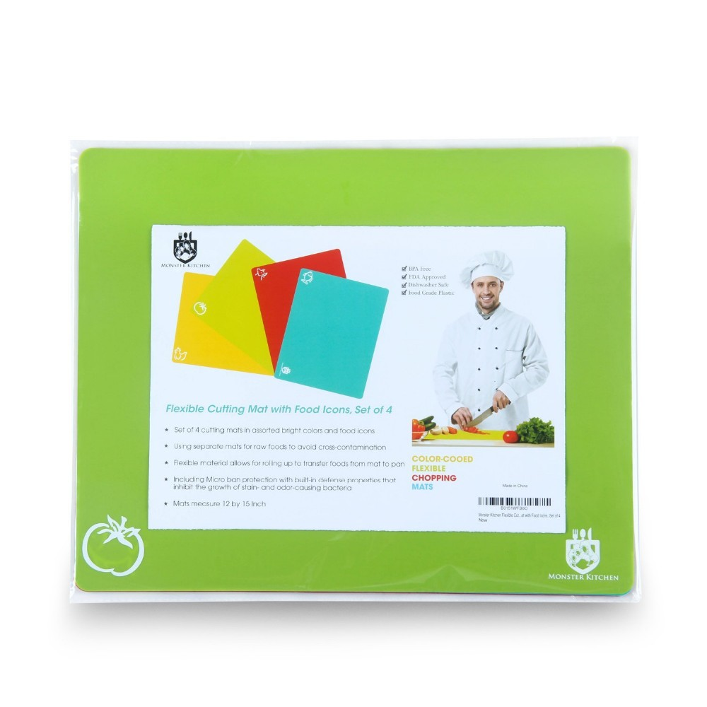 2019 anti-slip 플라스틱 마 board, 유연한 플라스틱 cutting mat, cutting board