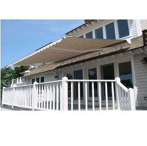 Durable Acrylic 6x5m Folding Arm Retractable Balcony Awning