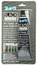 3+3 RTV Silicon Sealant Adhesive & Gasket Maker Glue Black 100g Oil Resistance