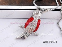 lucky magpie bird crystal charm pendant party jewelry