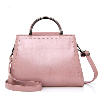 1hd0068 Yiwu Las Handbags Manufacturer Design Your Own Leather Pink Handbag For Young Lady