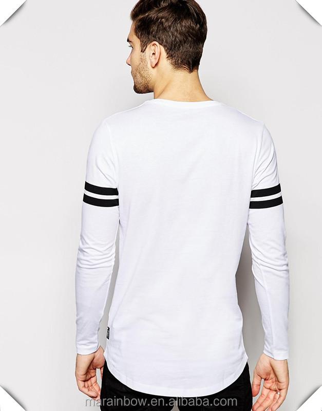 152ba617475 Cheap Wholesale 100% Cotton White Blank T-Shirt Mens Long Sleeve T Shirt  Longline