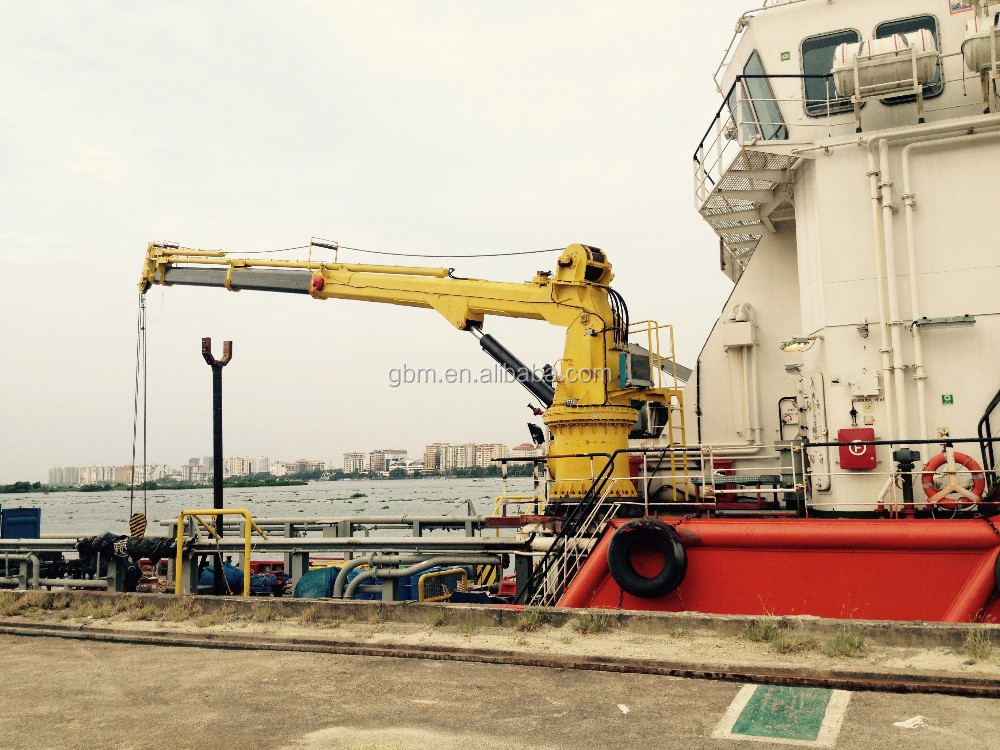1,3,10 Ton Small Port Hydraulic Telescopic Boom Marine