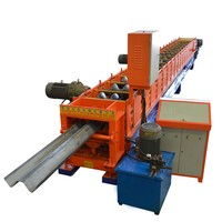 Best selling crash barrier production highway metal guardrail construction equipment roll forming machine line