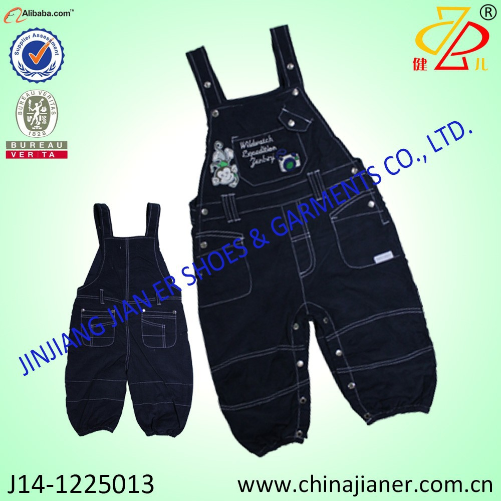 100%cotton winter baby boy pants denim wholesale baby dungarees