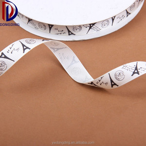 "The Eiffel Tower design ,manufacturers wholesale custom1"" inch printed grosgrain tape ribbon"