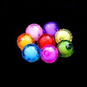 Colorful 96 Facets Round Plastic Acrylic Loose Beads For Jewelry Making