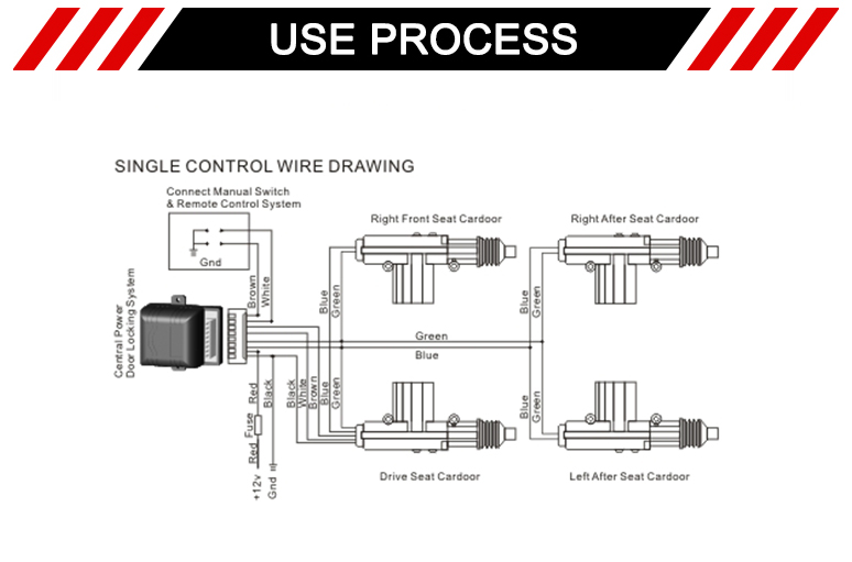 central locking motor wiring diagram new clutch type central door lock slave actuator with 2 wires for  new clutch type central door lock slave