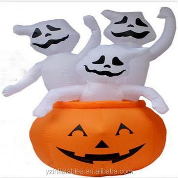 4 Pie Decoracion Animada De Halloweencalabaza Inflable Decoraciones - Calabazas-animadas