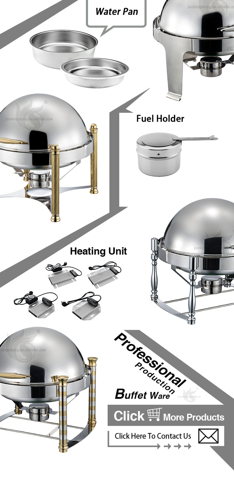 Hotel Buffet Serving 6L Popular Round stackable Stainless Steel Buffet Chafing Dish