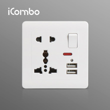 Multifunctional International Wall Socket with USB Charger