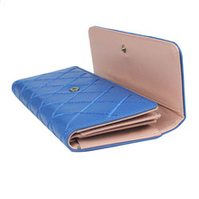 women crown Lady's Clutch Long Purse Leather trifold Wallet