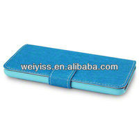 BRANDED PU LEATHER WALLET CASE FOR IPOD TOUCH 5-BLUE