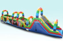 inflatable obstacle course for sale inflatable rainbow obstacle course kids obstacle course equipment F5004