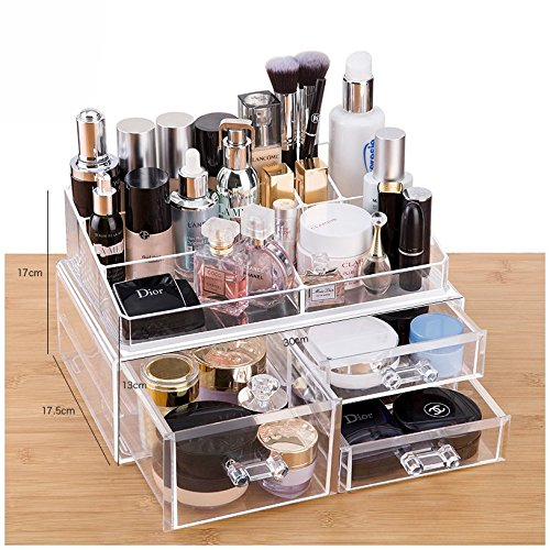 e3ed8bba031e Buy Cq acrylic Large 8 Tier Clear Acrylic Cosmetic Makeup Storage ...