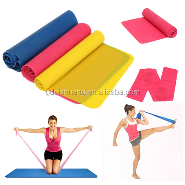 Resistance Pilates Stretch Exercise Rubber Training Bands for Men Women Workout at Home Gym