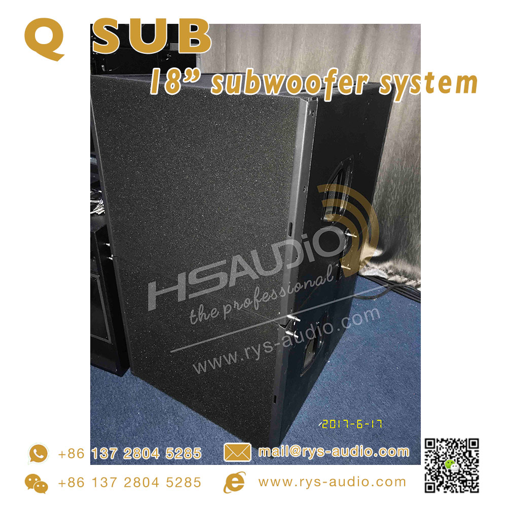 line array system Q SUB subwoofer 18 inch 800w indoor concert show guangzhou china