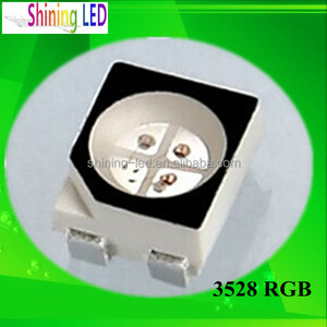 High Performance PLCC4 Black Face 3528 SMD chip for Strip Light 4-pin RGB LED Diode