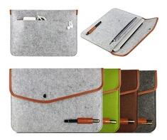Felt laptop bag and felt bag organizer
