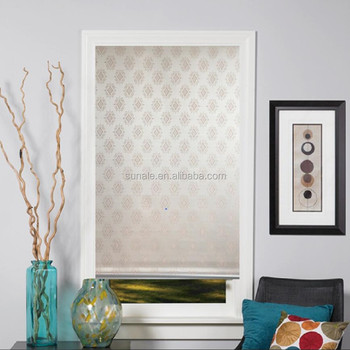 Pattern jacquard blackout fabric roller blinds shades