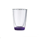 Quality high borosilicate clear heat resistant double wall glass tea cup drinkware