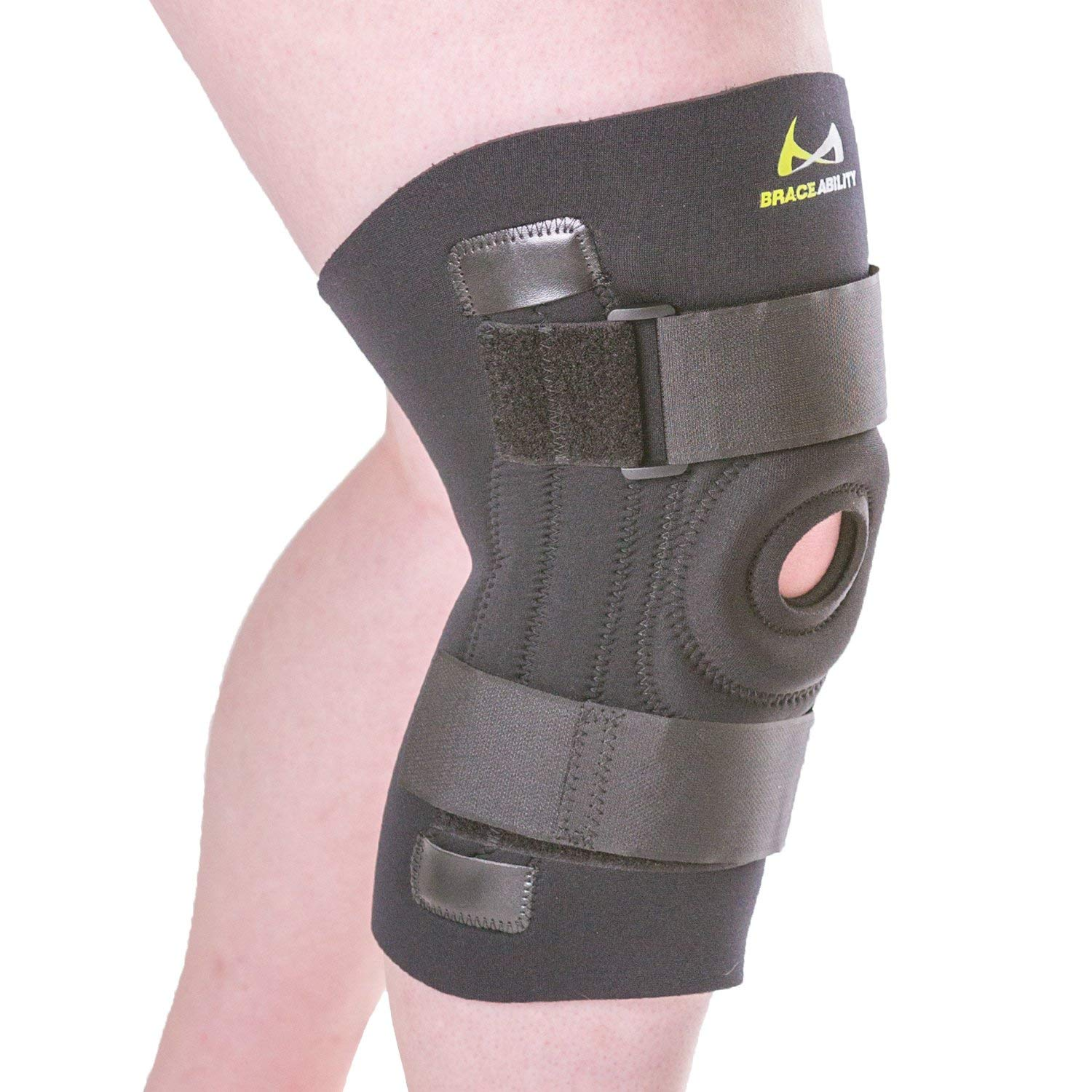 01de49a18e Get Quotations · BraceAbility Knee Brace for Large Legs and Bigger People  with Wide Thighs | Kneecap Protection Pad
