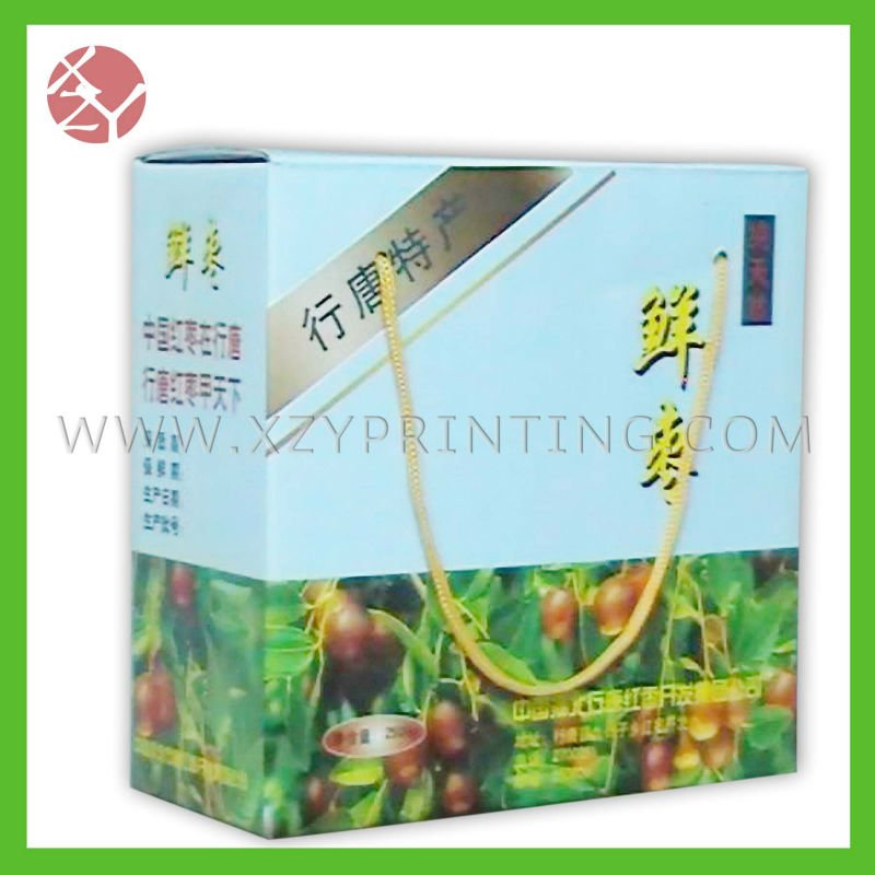 Fruit packing carton with tape