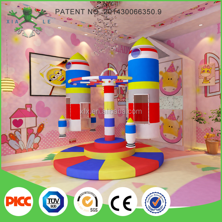 Factory wholesale playground equipment revolving rocket on sale