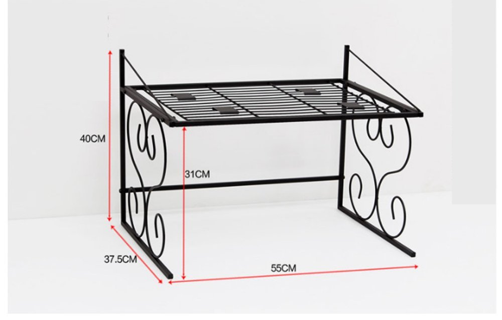 Kitchen metal multi - functional 2 - storey electrical appliances shelf extracourt oven microwave oven shelf