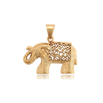 34202 xuping gold plated animal shape series elephant neutral pendant