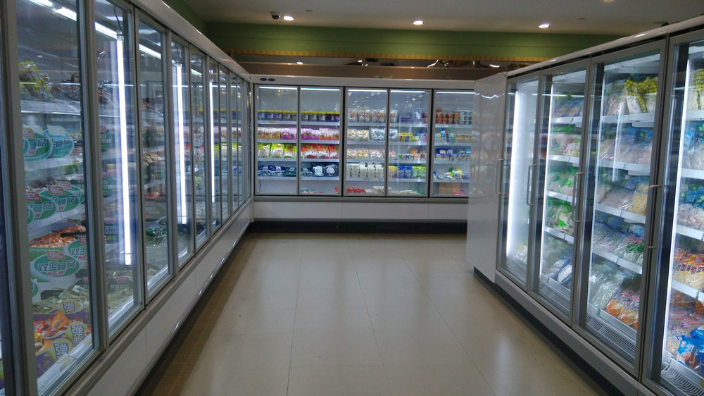 Begehbarer Kühlschrank Glastür System Kühlschrank Gefrierschrank ...
