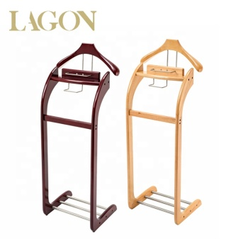 Hotel Room Furniture Antique Wooden Valet Stand Butler Stand