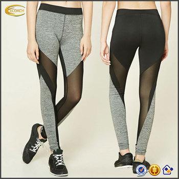 b8658c5e4f1f6 Ecoach 87%nylon 13%spandex elasticized waist sports workout active mesh  Panel tights 2017