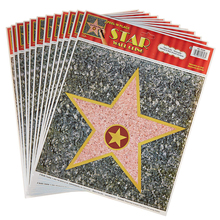 Abnehmbare (12 Pack) Personalisieren Ihre Eigenen Ruhm Decor Kit Hollywood <span class=keywords><strong>Sterne</strong></span> <span class=keywords><strong>Aufkleber</strong></span>