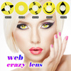 Cheap yellow crazy eyes contact lenses cosmetic colored lenses