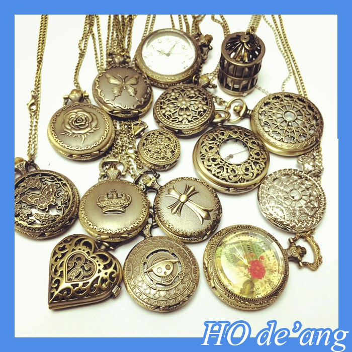 HOGIFT festival gift nightmare theme retro pocket watch vintage pocket watch for brave person Factory direct sale