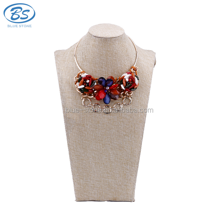 MX039M Hot New Products For 2017 boho Crystal Choker Necklace For Women,Vintage Rose shape Necklace