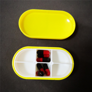 Plastic capsule shape 6 cases storage pill box