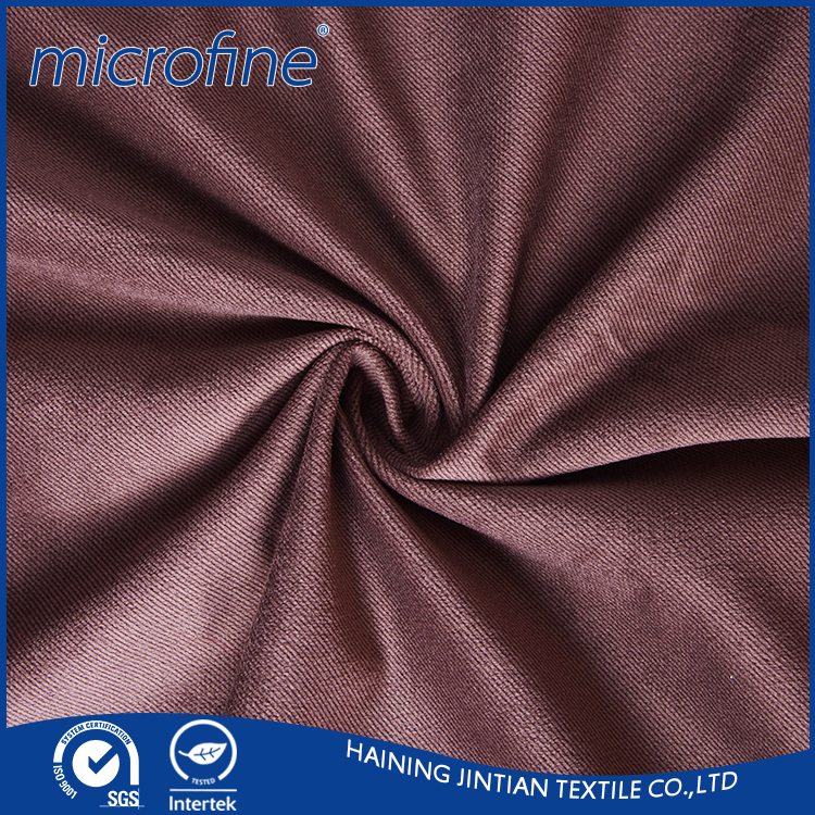 High quality Twill Polyester micro velvet fabric for men's suit