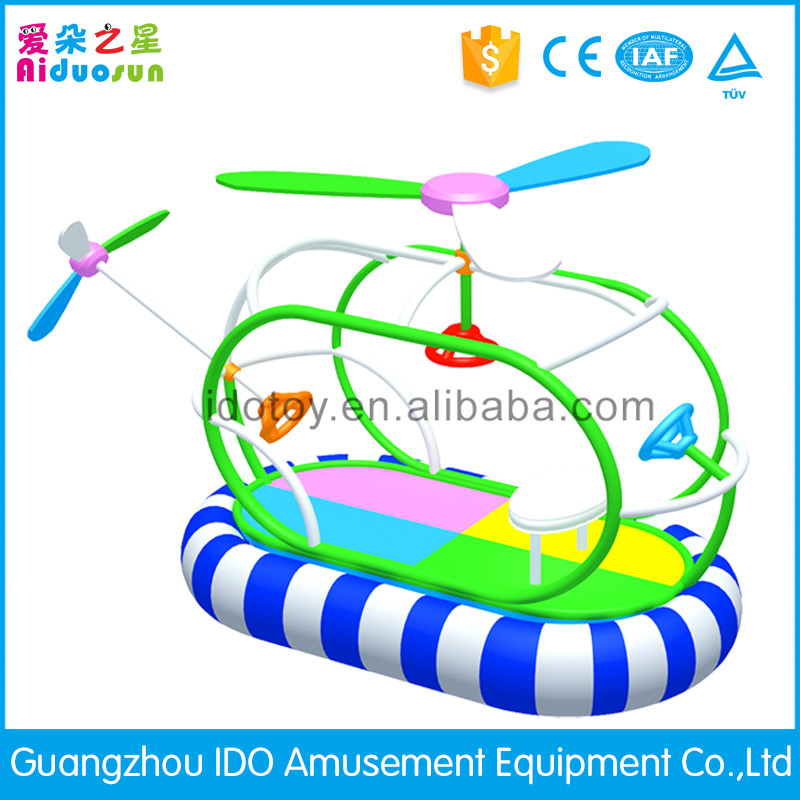 New arrival soft inflatable helicopters on the playground