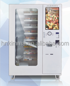 Hot meal fresh cooking food vending machine in robot arm delivery